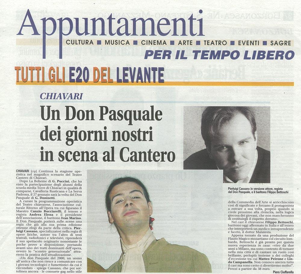 15.01.2011 – APPUNTAMENTI – Don Pasquale