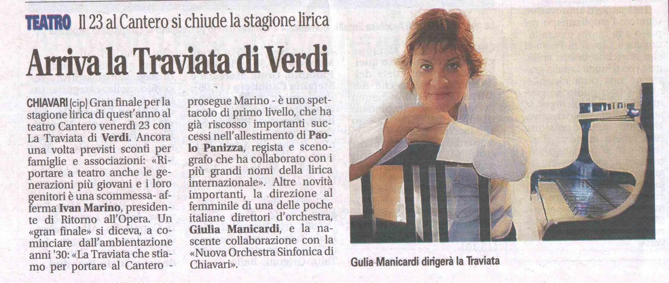 16.03.2012 – IL NUOVO LEVANTE – La Traviata