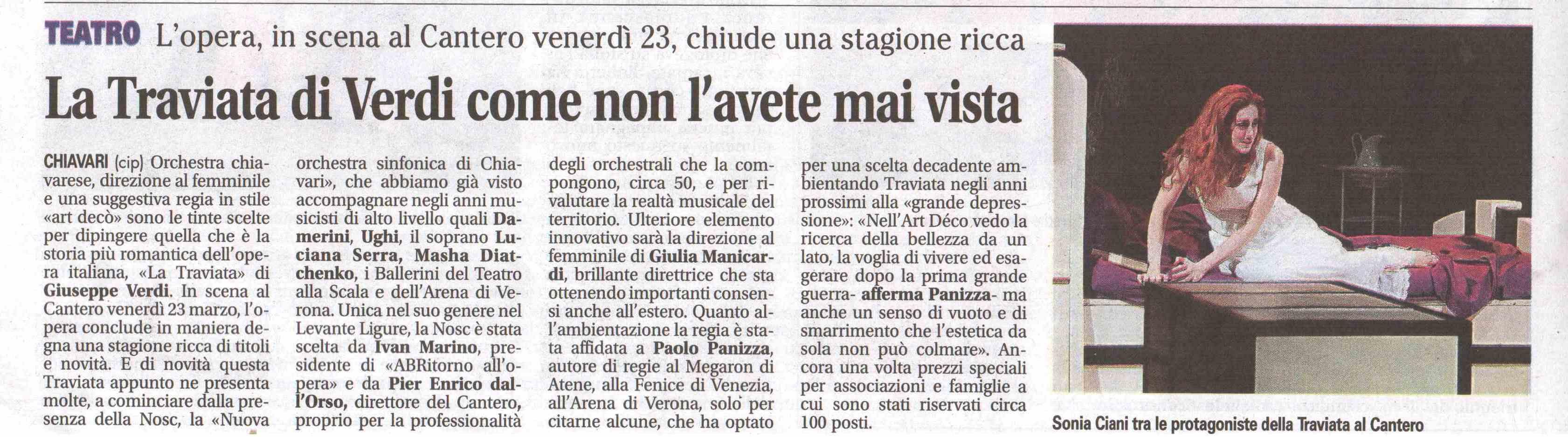 23.03.2012 – IL NUOVO LEVANTE – La Traviata