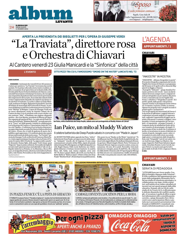 14.03.2012 – IL SECOLO XIX – La Traviata