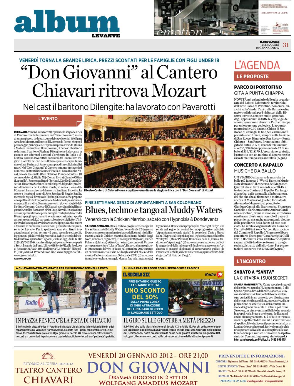 18.01.2012 – IL SECOLO XIX – Don Giovanni