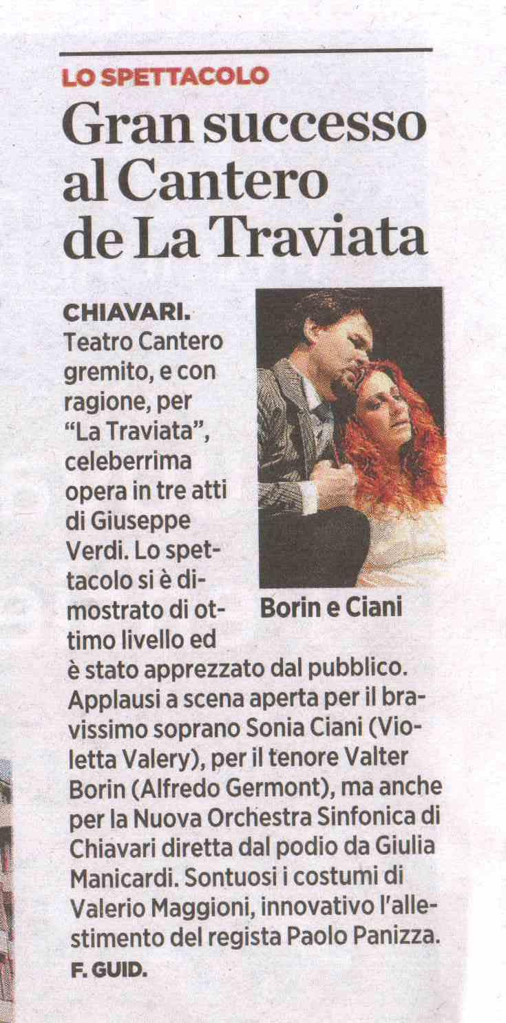 25.03.2012 – IL SECOLO XIX – La Traviata