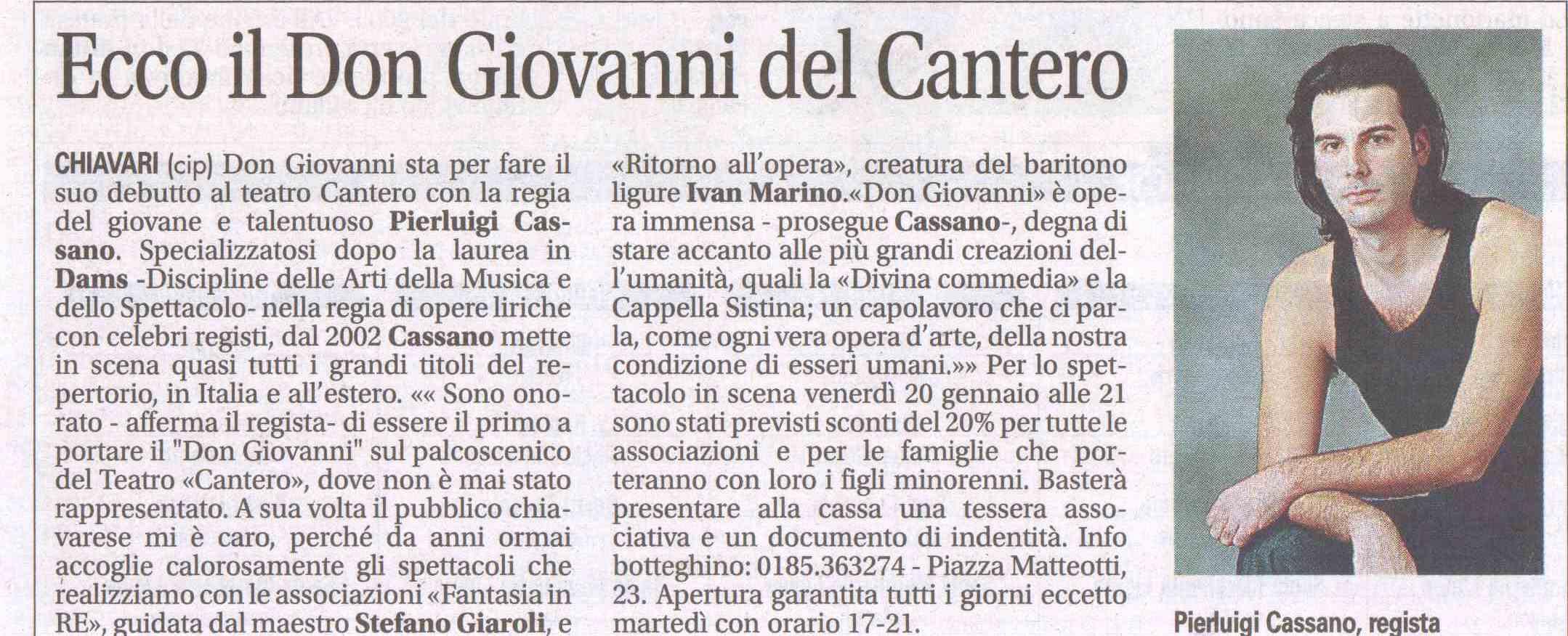 20.01.2012 – IL NUOVO LEVANTE – Don Giovanni