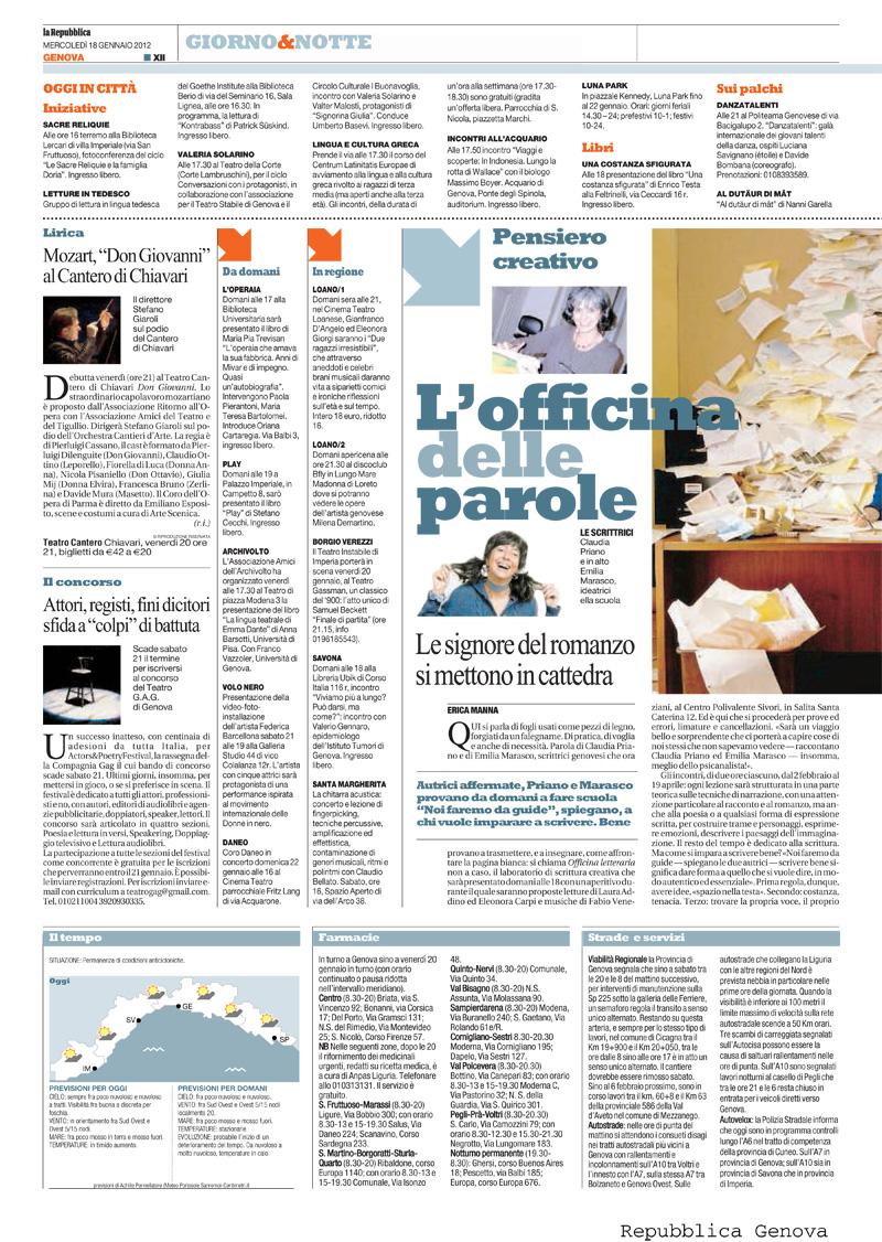 08.01.2012 – LA REPUBBLICA – Don Giovanni
