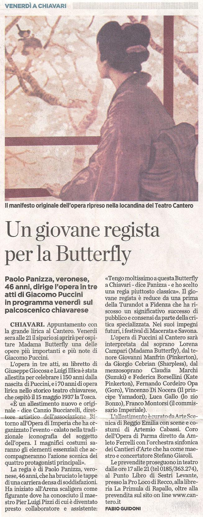 16.04.2008 – IL SECOLO XIX – Madama Butterfly