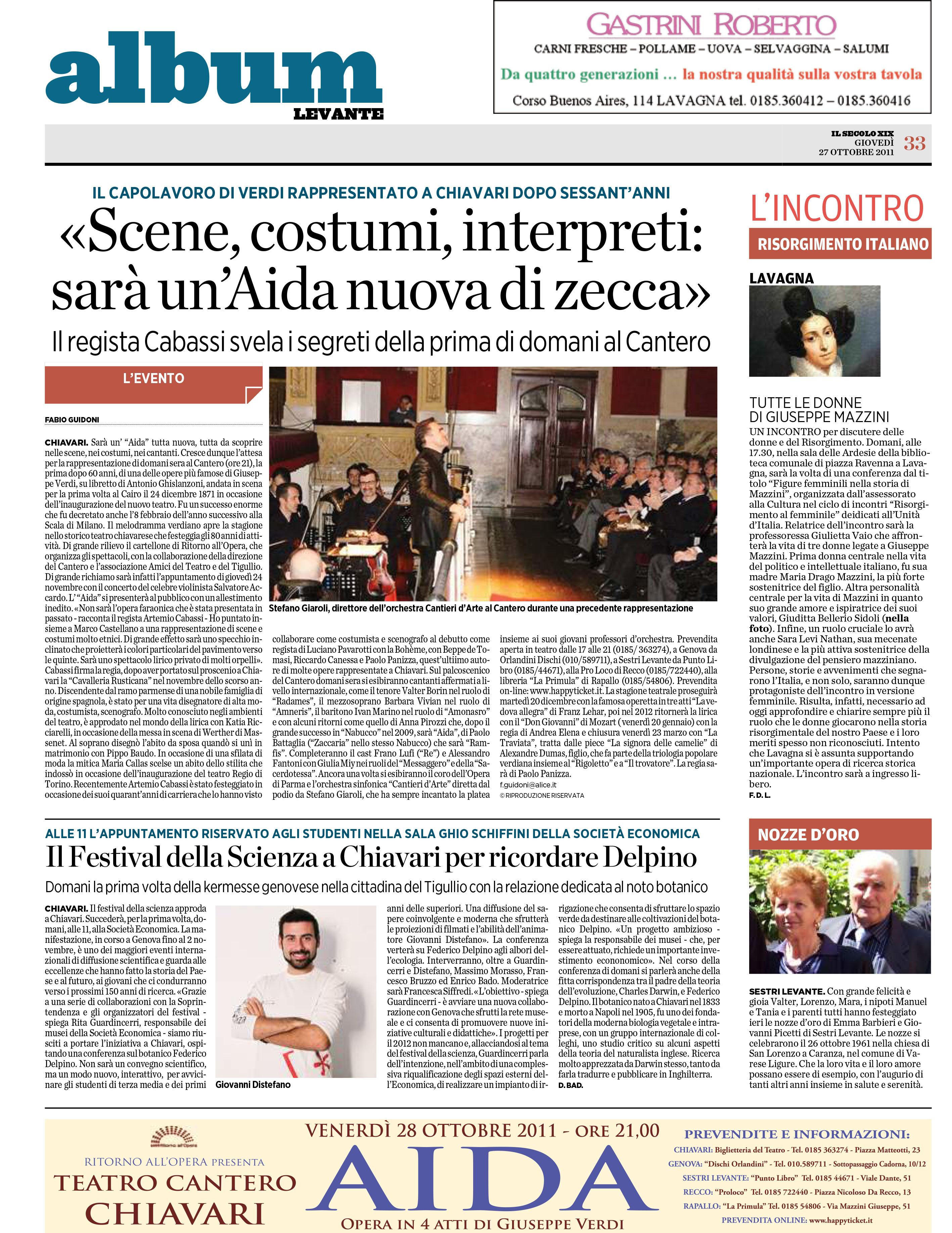 27.10.2011 – IL SECOLO XIX – Aida