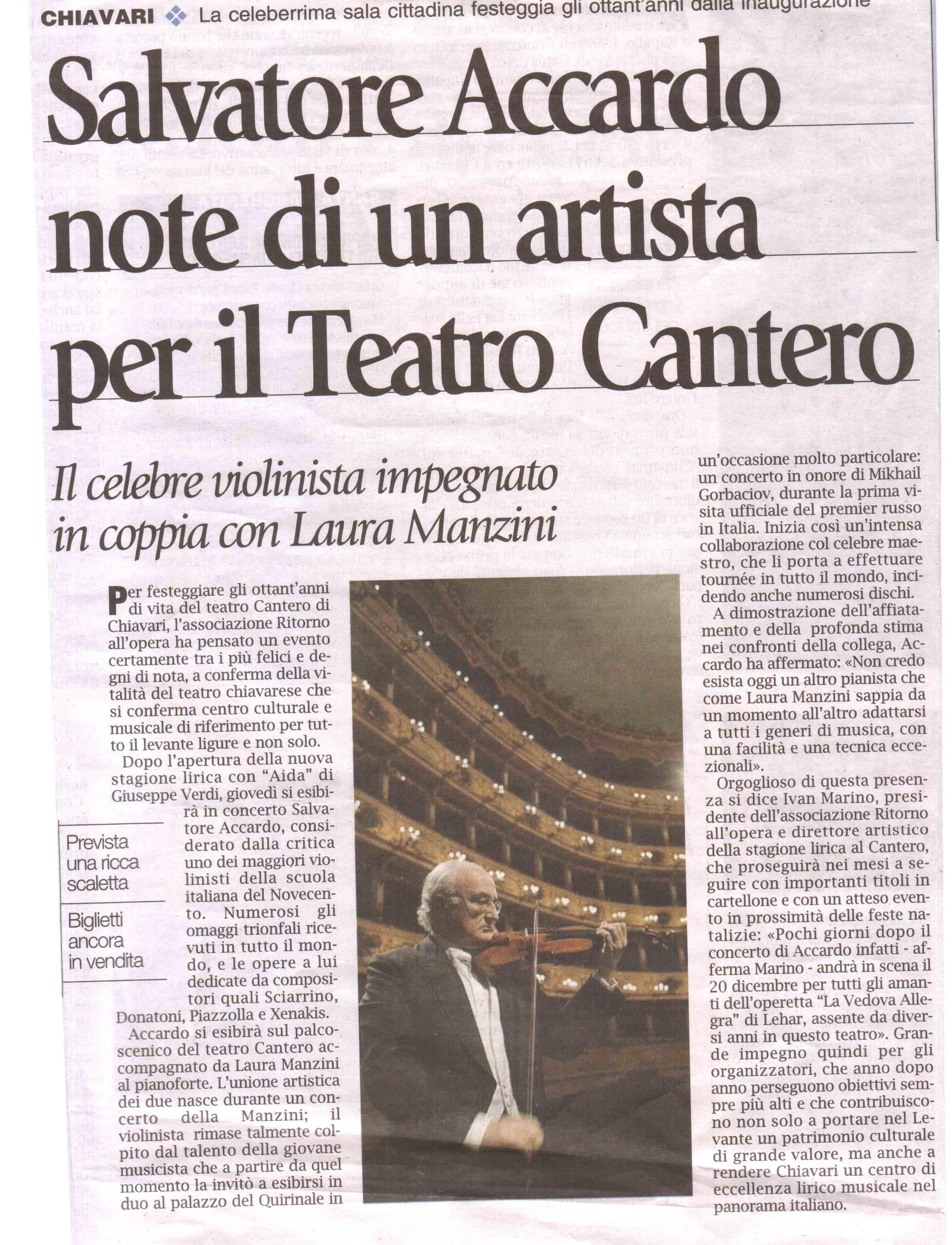 11.12.2011 – CORRIERE MERCANTILE – Salvatore Accardo in Concerto