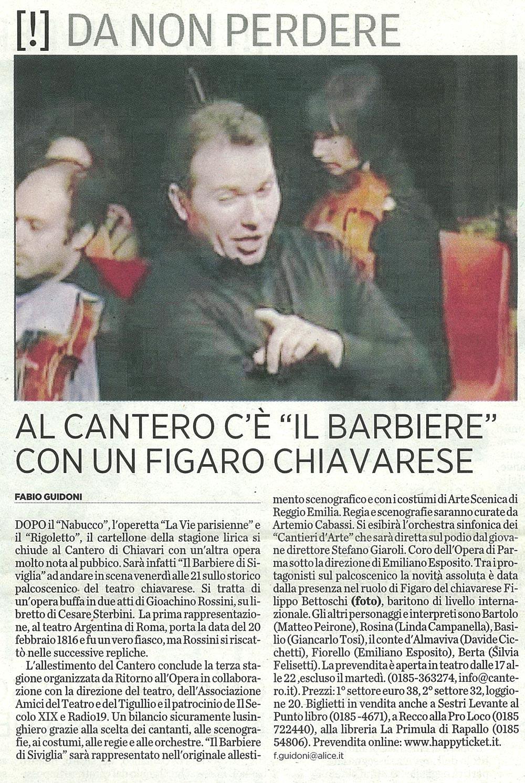 24.02.2010 – IL SECOLO XIX – Il Barbiere di Siviglia