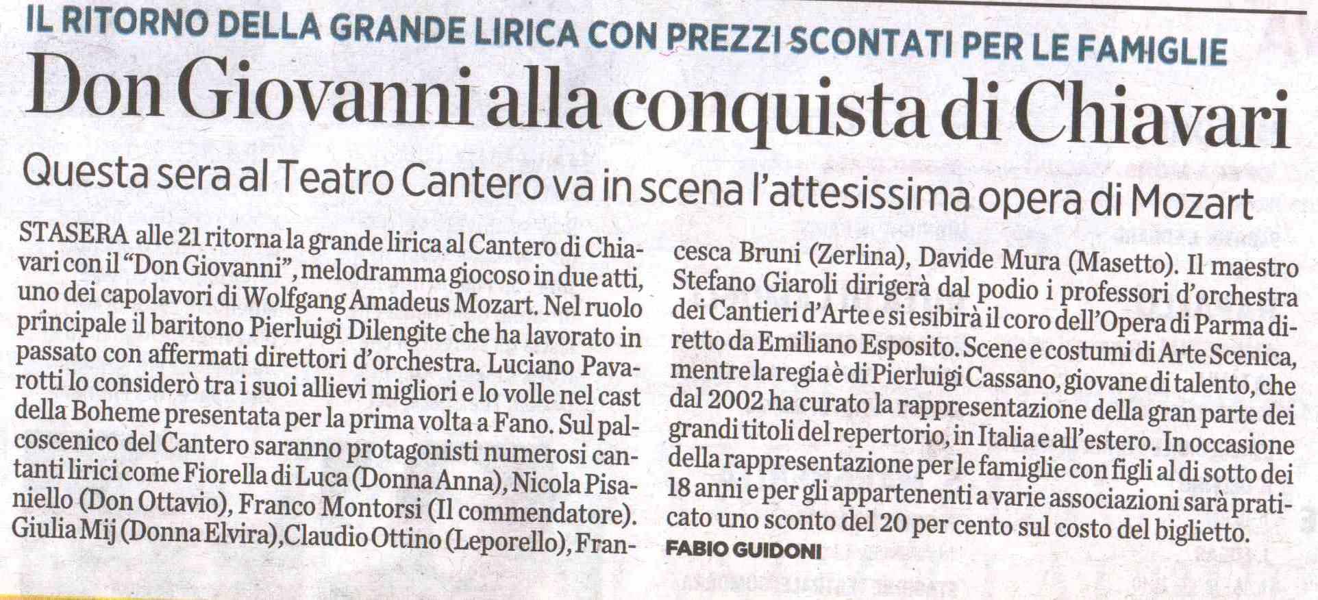 20.01.2012 – IL SECOLO XIX – Don Giovanni