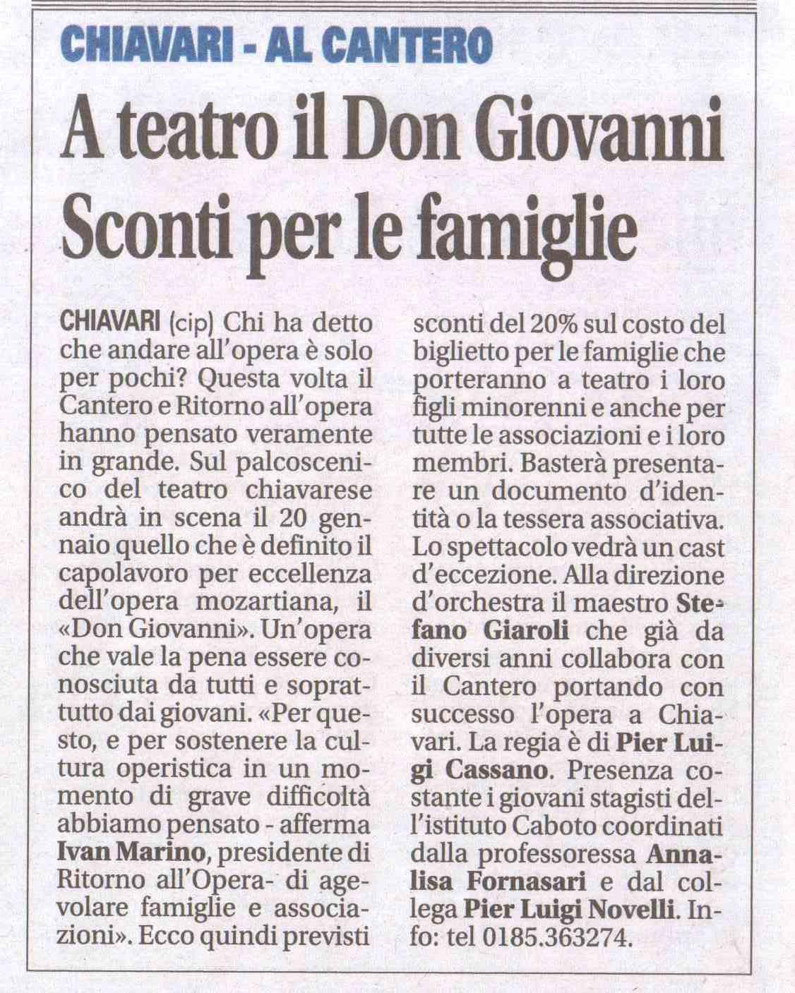 12.01.2012 – IL NUOVO LEVANTE – Don Giovanni