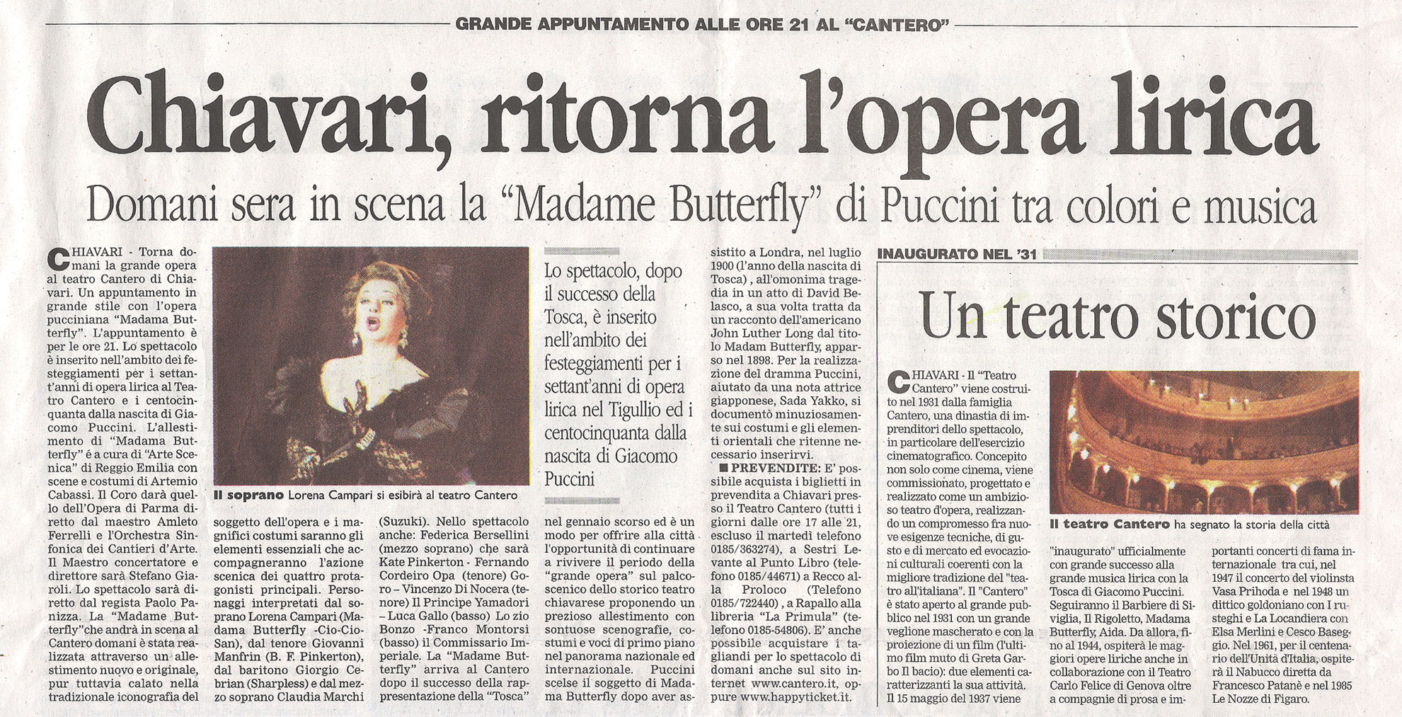 17.04.2008 – CORRIERE MERCANTILE – Madama Butterfly