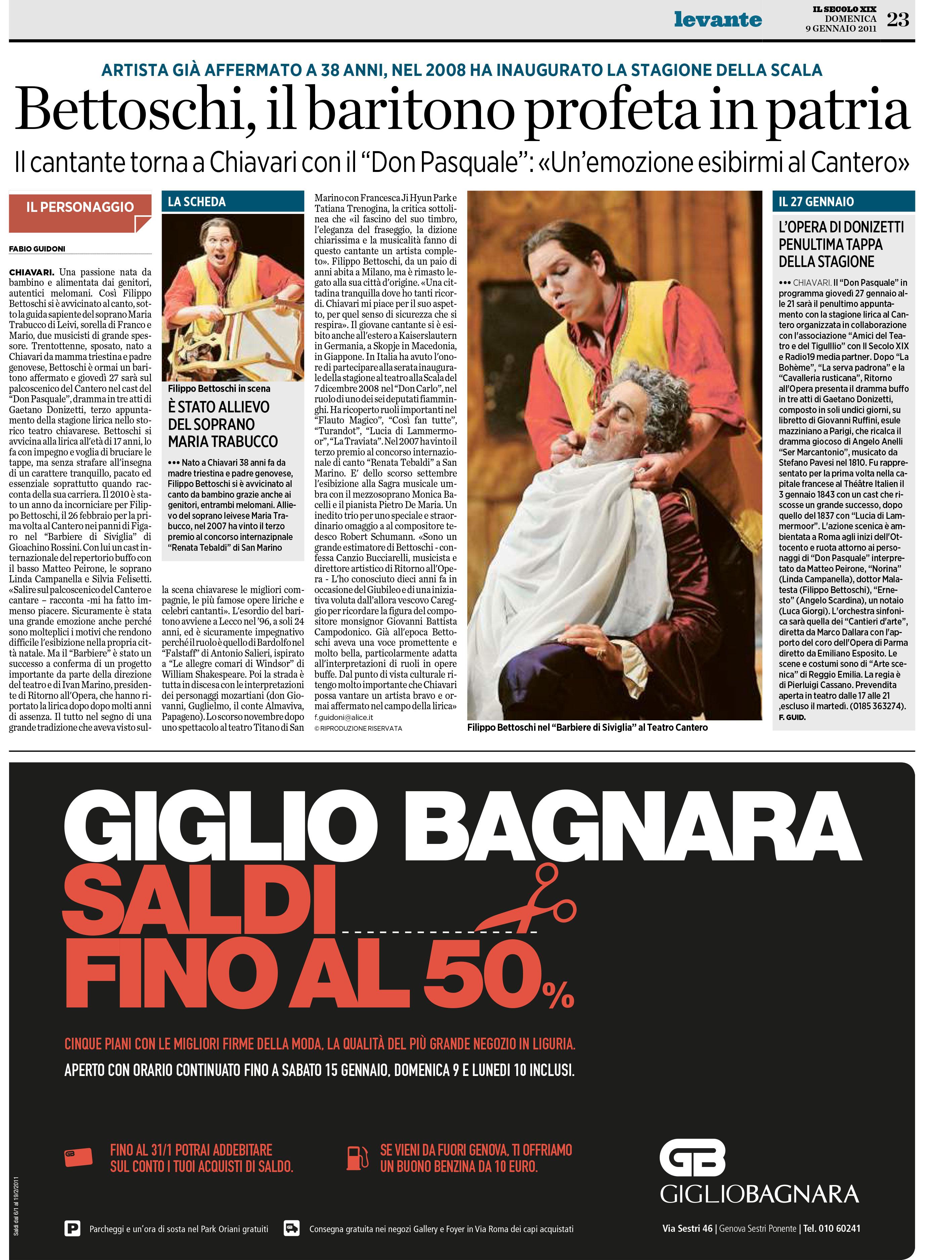 09.01.2011 – IL SECOLO XIX – Don Pasquale